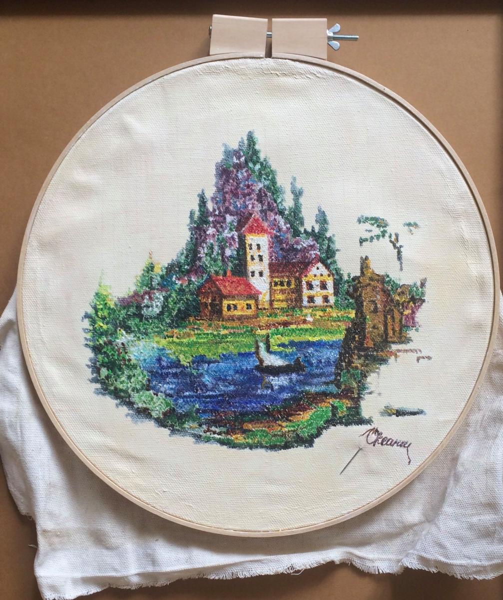 Оксана Викторовна Соколова. Imitation embroidery
