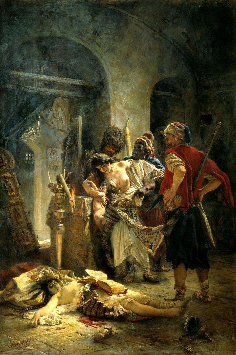 Константин Егорович Маковский. Болгарские мученицы