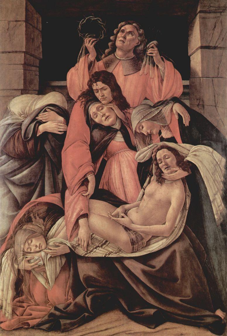Сандро Боттичелли. Оплакивание Христа