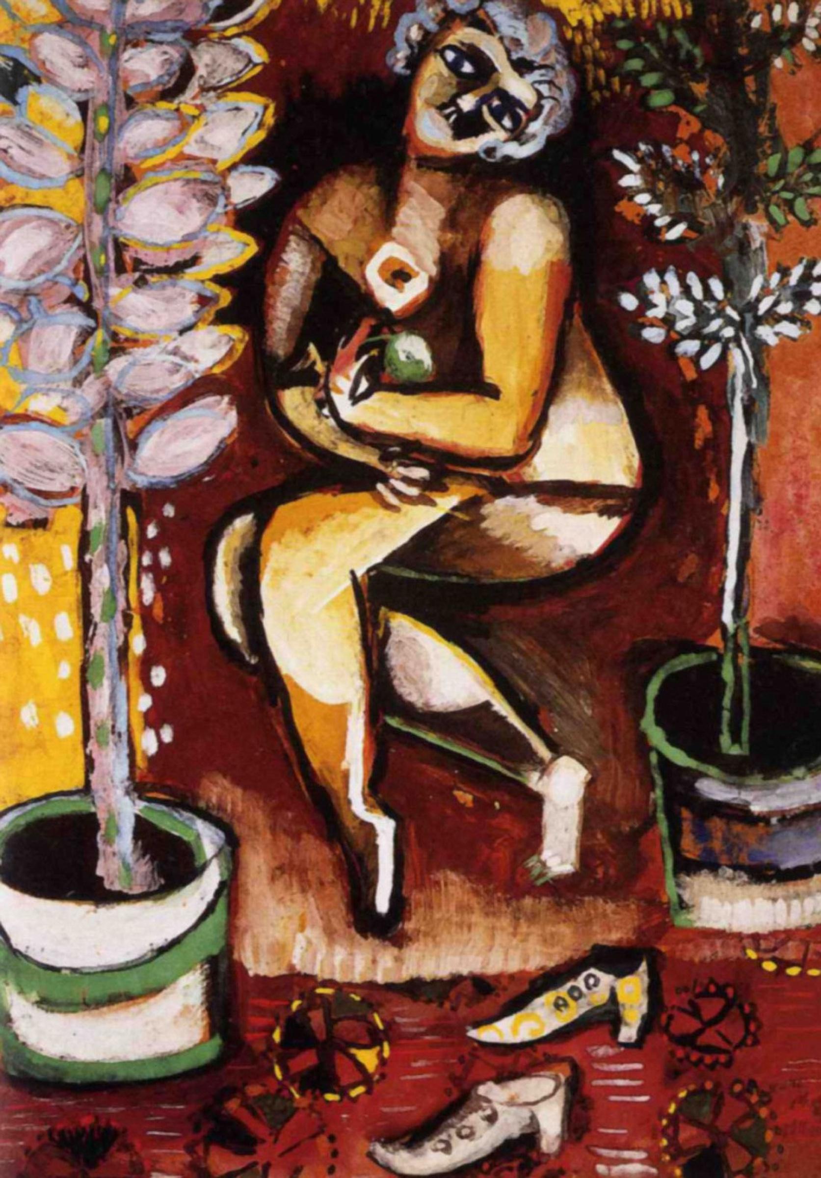 Марк Захарович Шагал. Обнаженная в цветах