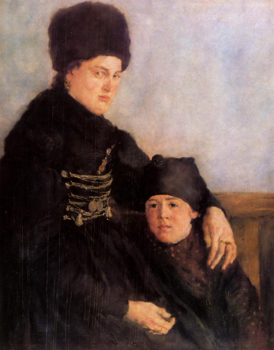 Вильгельм Мария Хубертус Лайбль. Горожанка из Дахау с ребенком