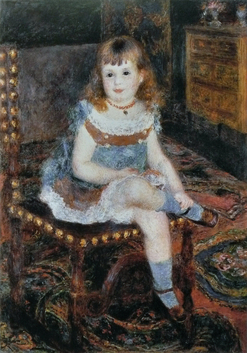 Pierre-Auguste Renoir. Portrait of Mademoiselle Charpentier Georgetti