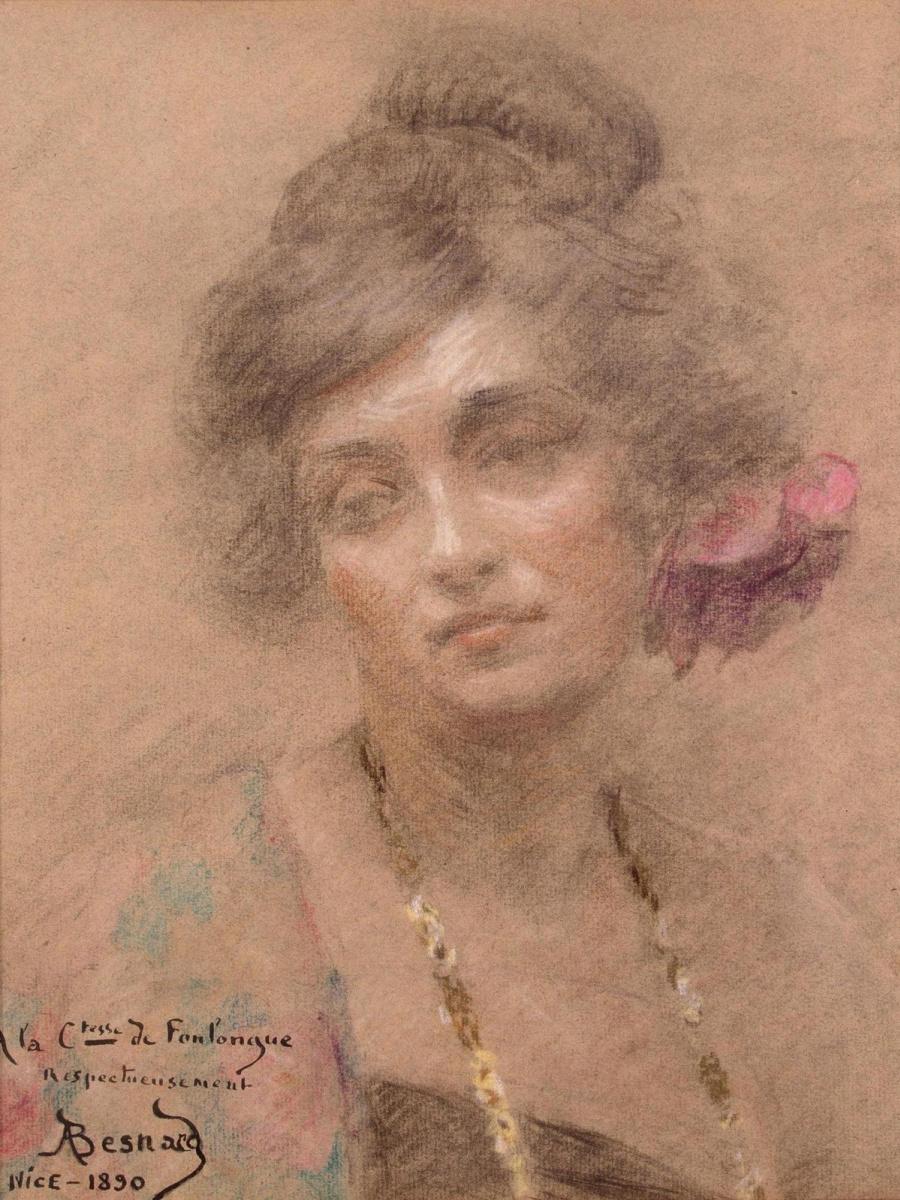Paul Albert Benar. Portrait of a woman. 1890