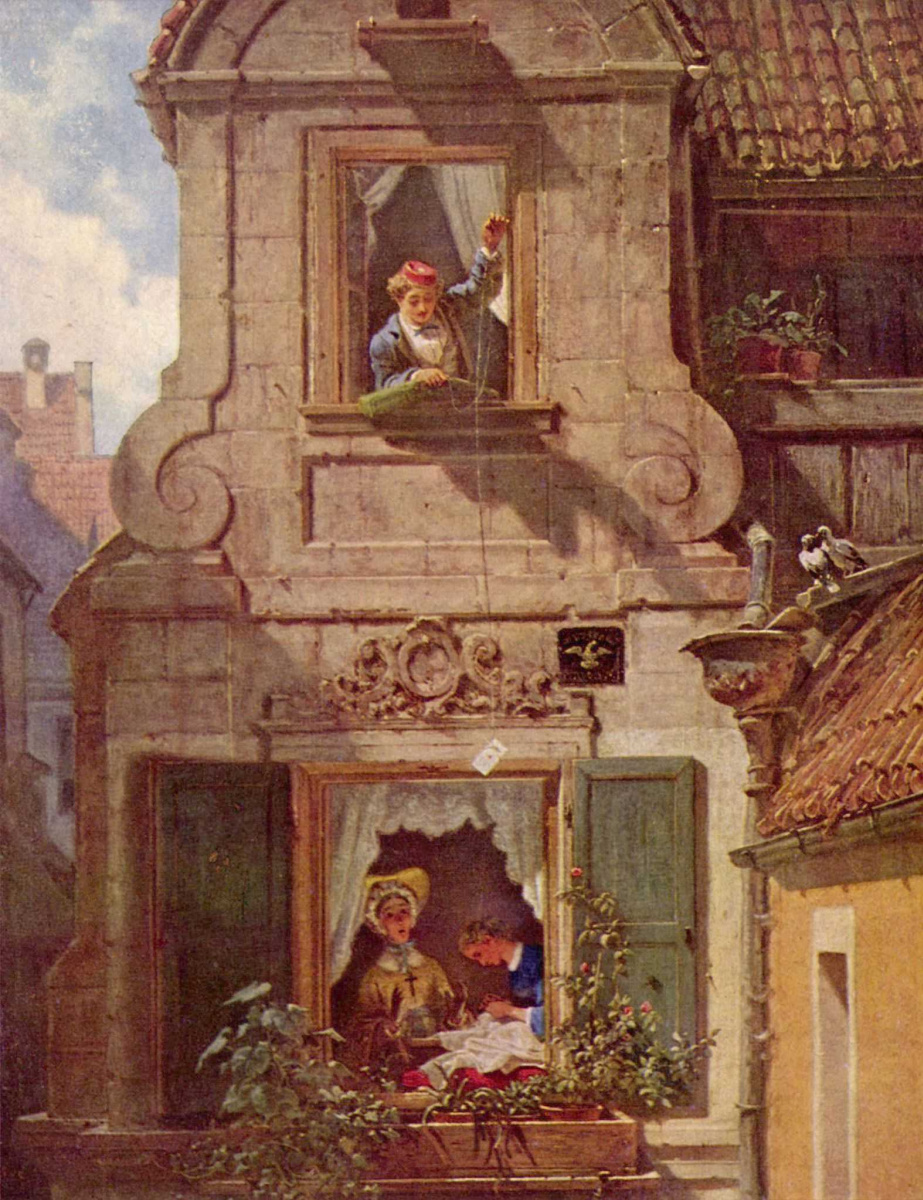 Карл Шпицвег. Перехваченное любовное письмо