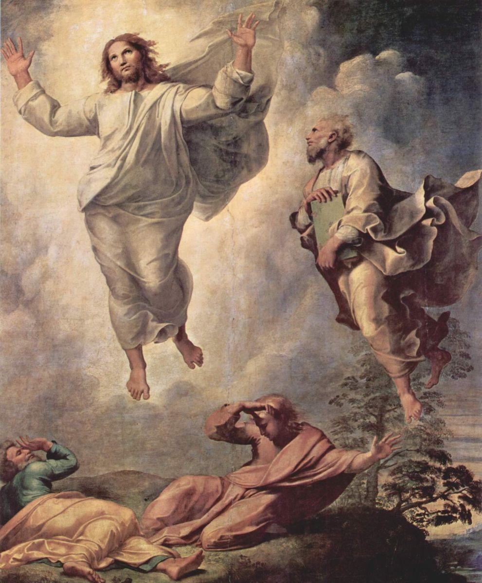 Рафаэль Санти. Преображение Христа. Фрагмент