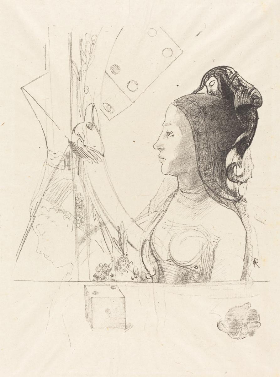 Одилон Редон. Профиль женщины