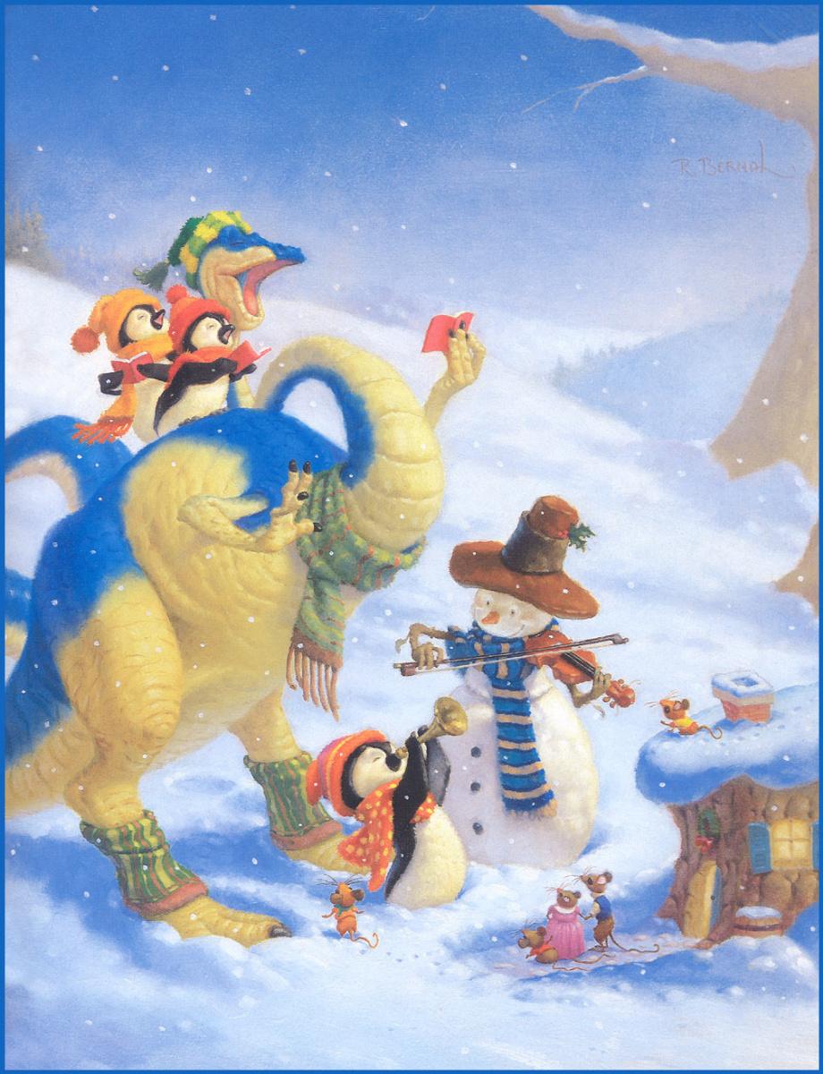 Ричард Берналь. Веселый снеговик