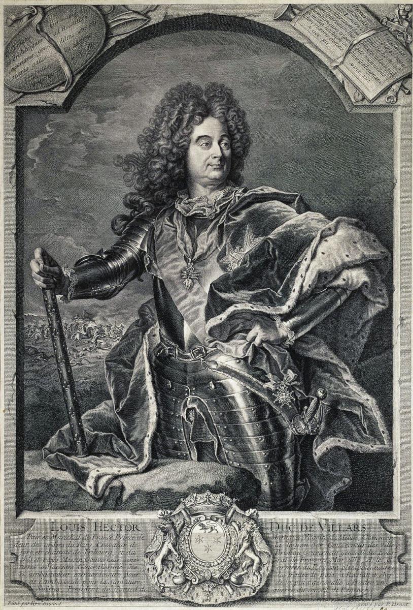 Пьер Древе. Портрет маршала Франции де Вилара