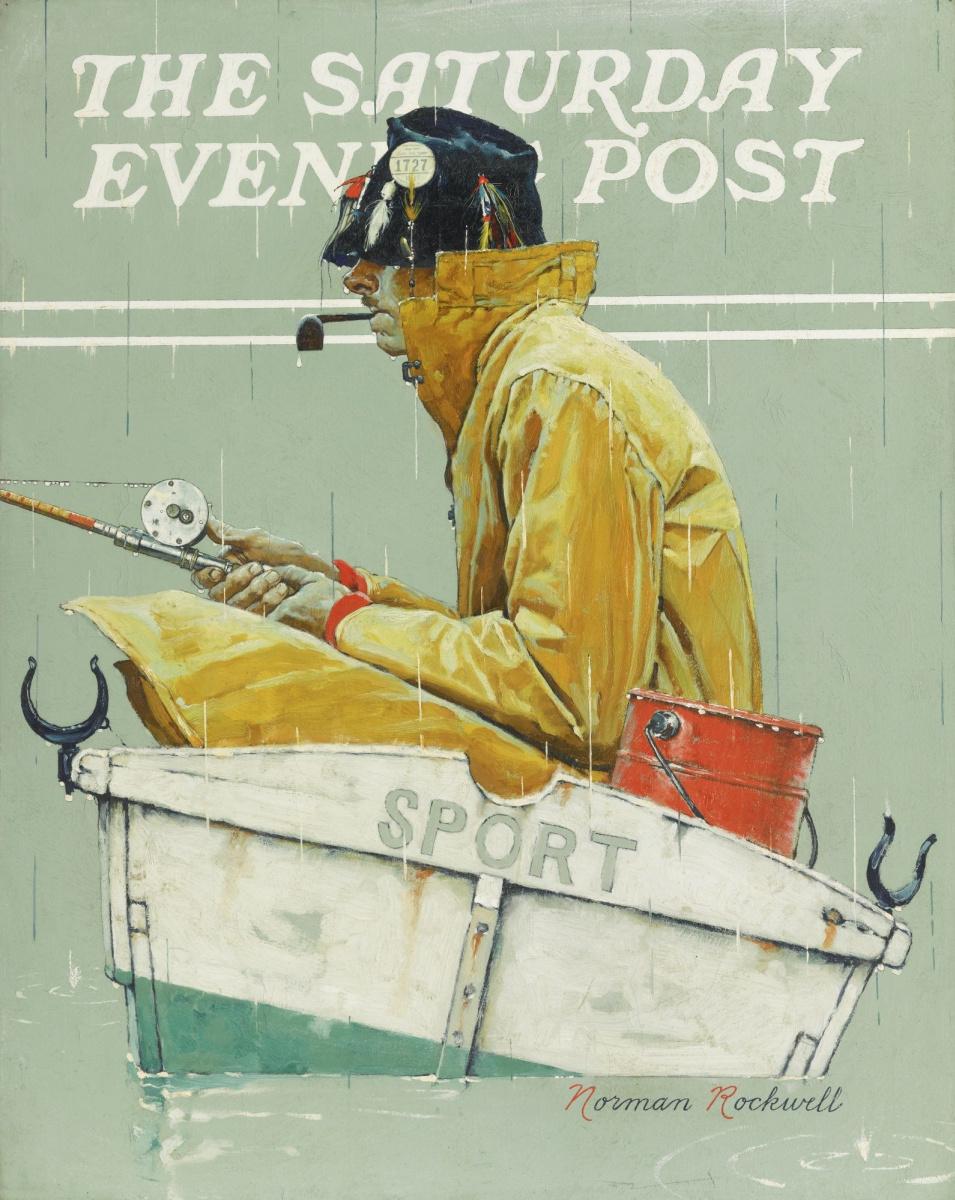 "Норман Роквелл. Спорт. Обложка журнала ""The Saturday Evening Post"" (1939 года)"
