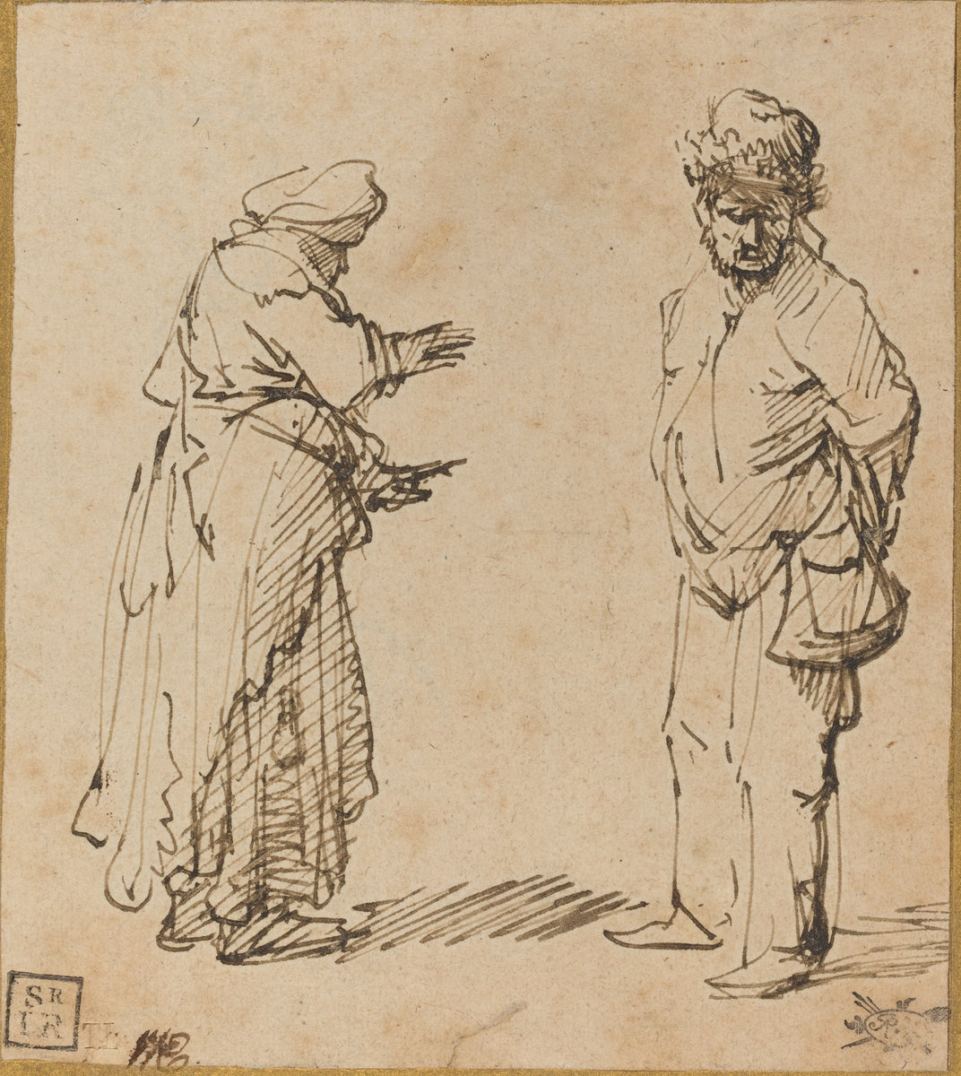 Rembrandt Harmenszoon van Rijn. Beggar Man and Woman