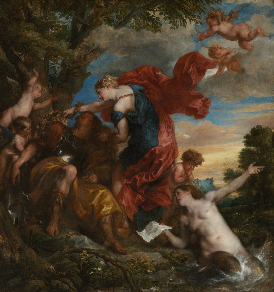 Anthony van Dyck. Rinaldo and Armida