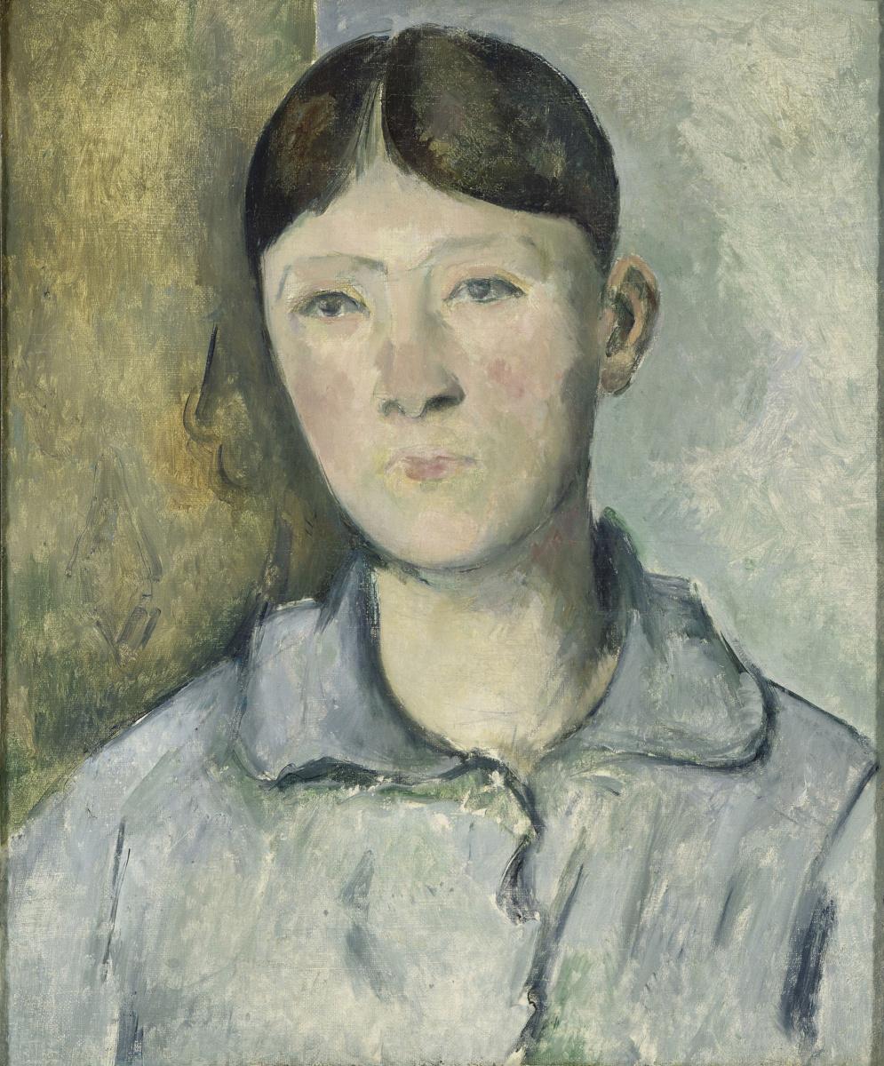 Paul Cezanne. Portrait of Madame Cezanne