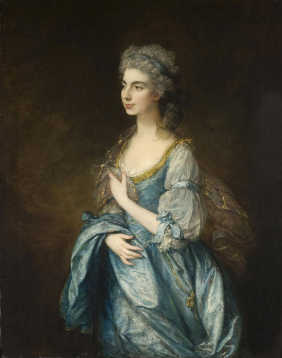Thomas Gainsborough. Portrait of lady Rodney, nee Anne Harley
