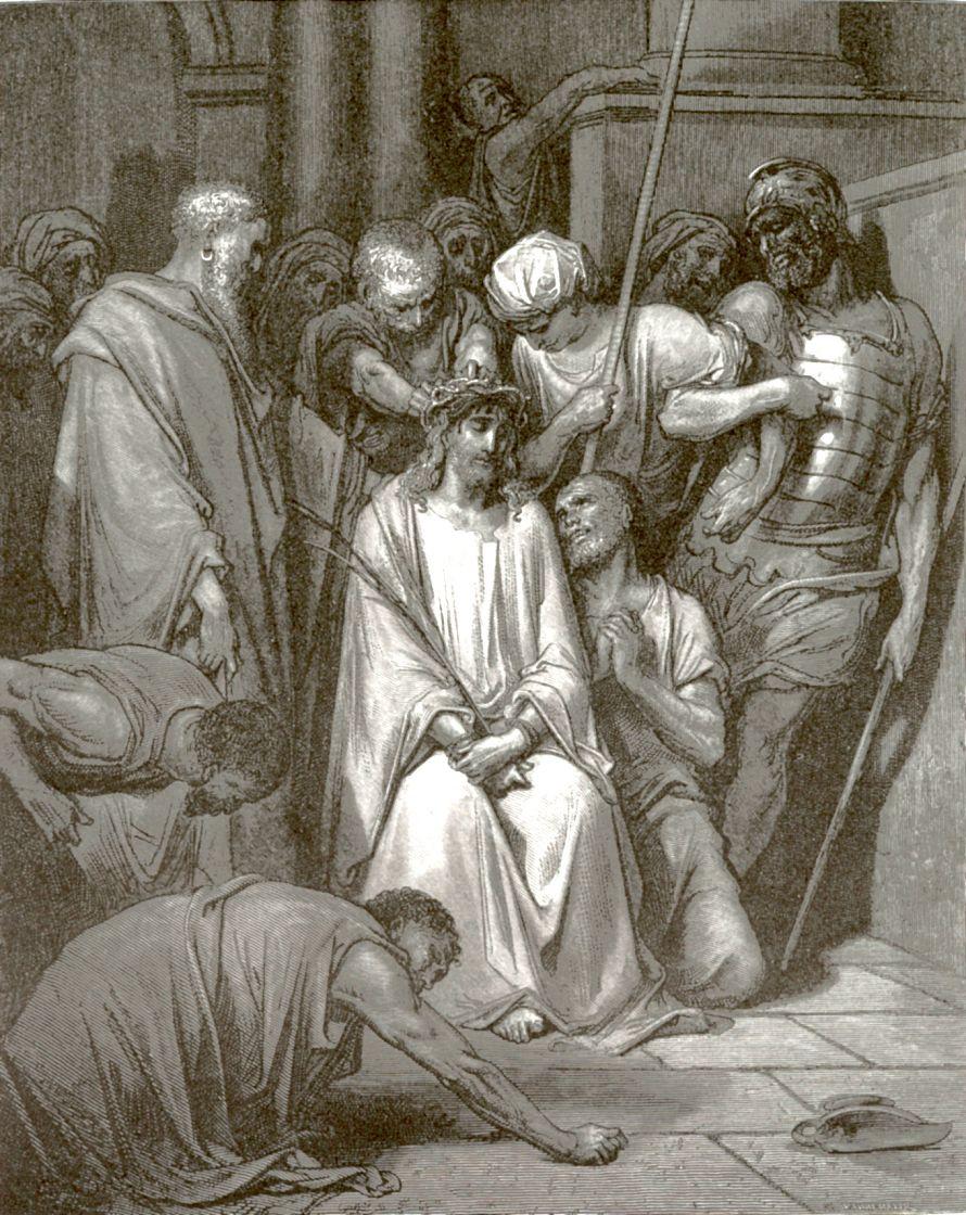 Поль Гюстав Доре. Иисус Христос в терновом венце