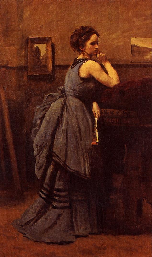 Камиль Коро. Женщина в синем