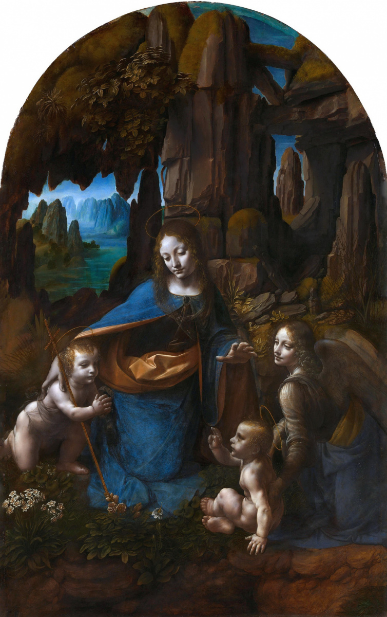 Leonardo da Vinci. Virgin of the rocks (Madonna of the grotto)