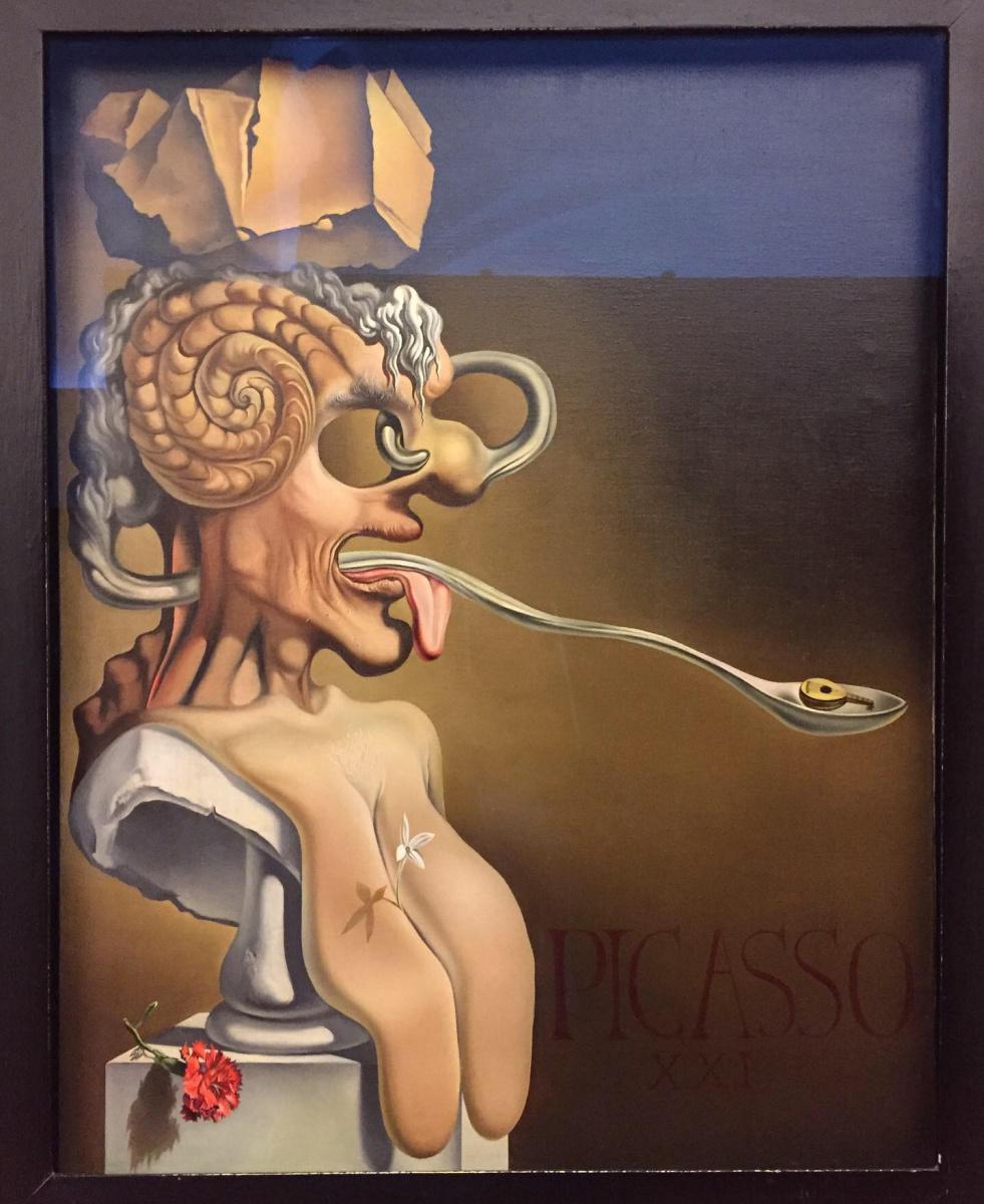 Salvador Dale. Portrait of Pablo Picasso in the XXI century