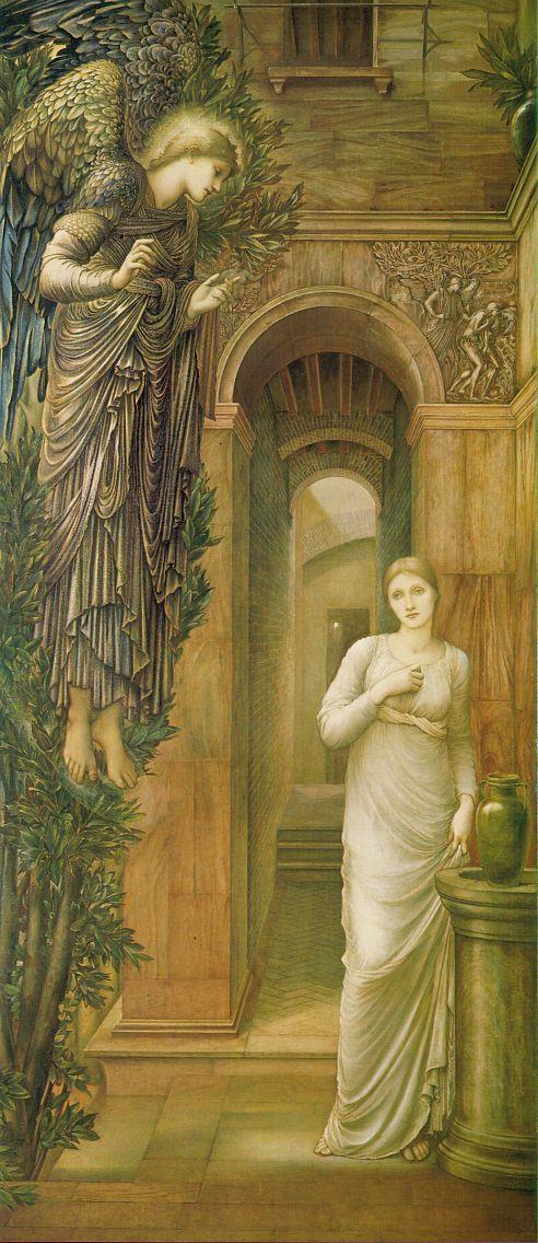 Edward Coley Burne-Jones. Annunciation