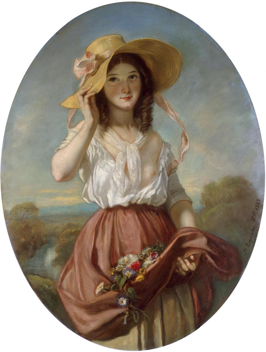 Камилл Рокплан. Девушка с цветами