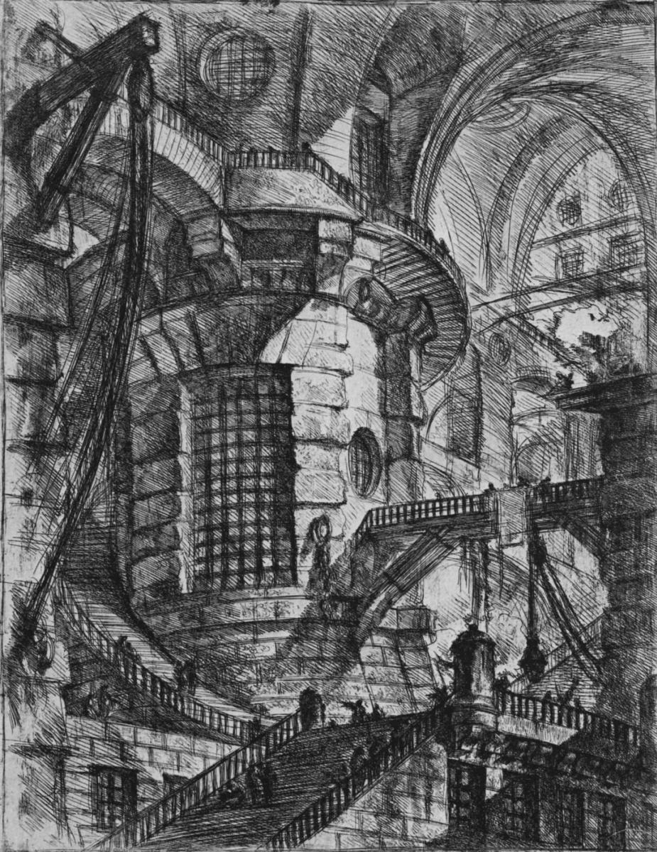 Джованни Баттиста Пиранези. Серия Тюрьмы, лист III