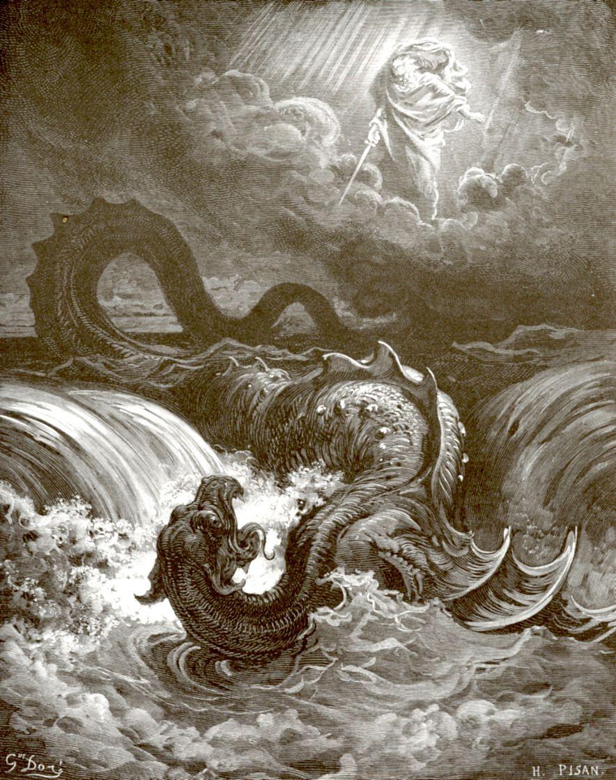 Поль Гюстав Доре. Господь поражает Левиафана
