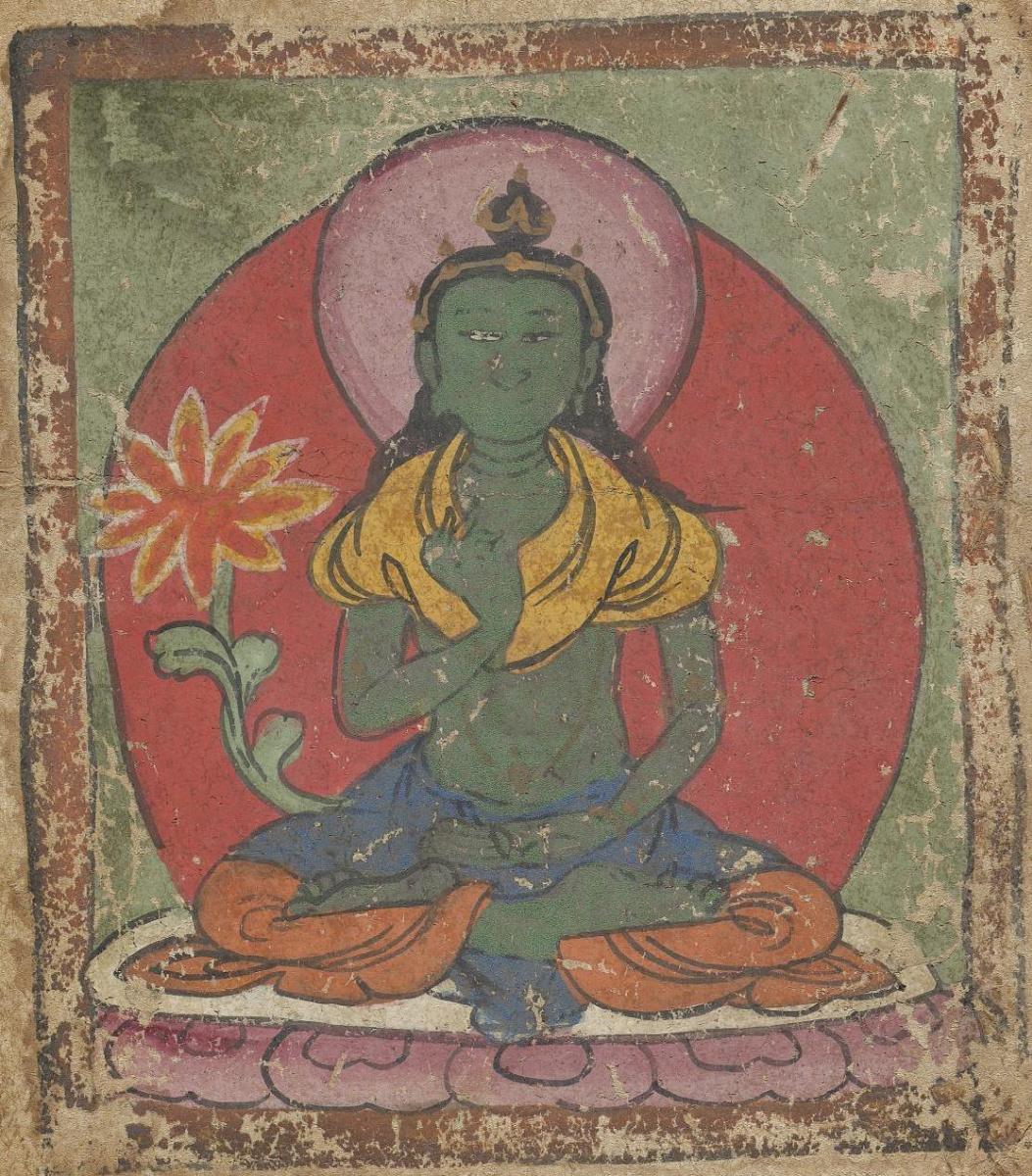 Unknown artist. The deity of the Tibetan Bon religion. Map of 54