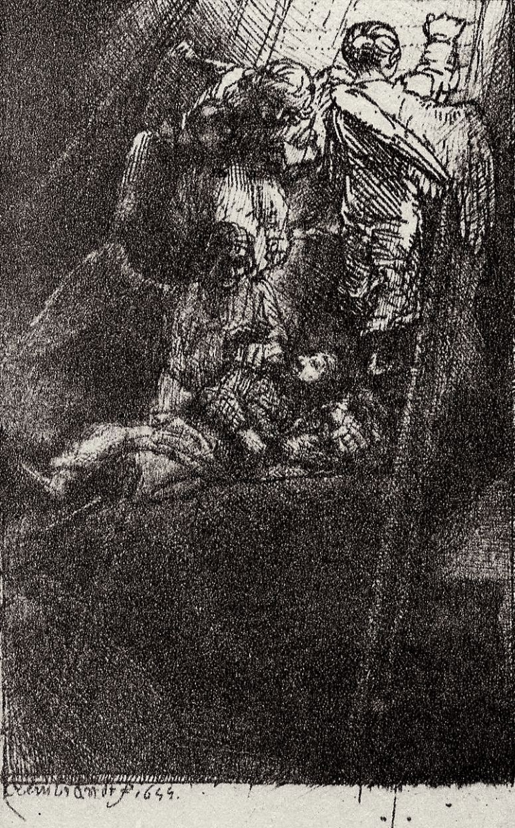 Рембрандт Харменс ван Рейн. Иллюстрация к Славному камню Менассе бен Израэля, Лестница Иакова