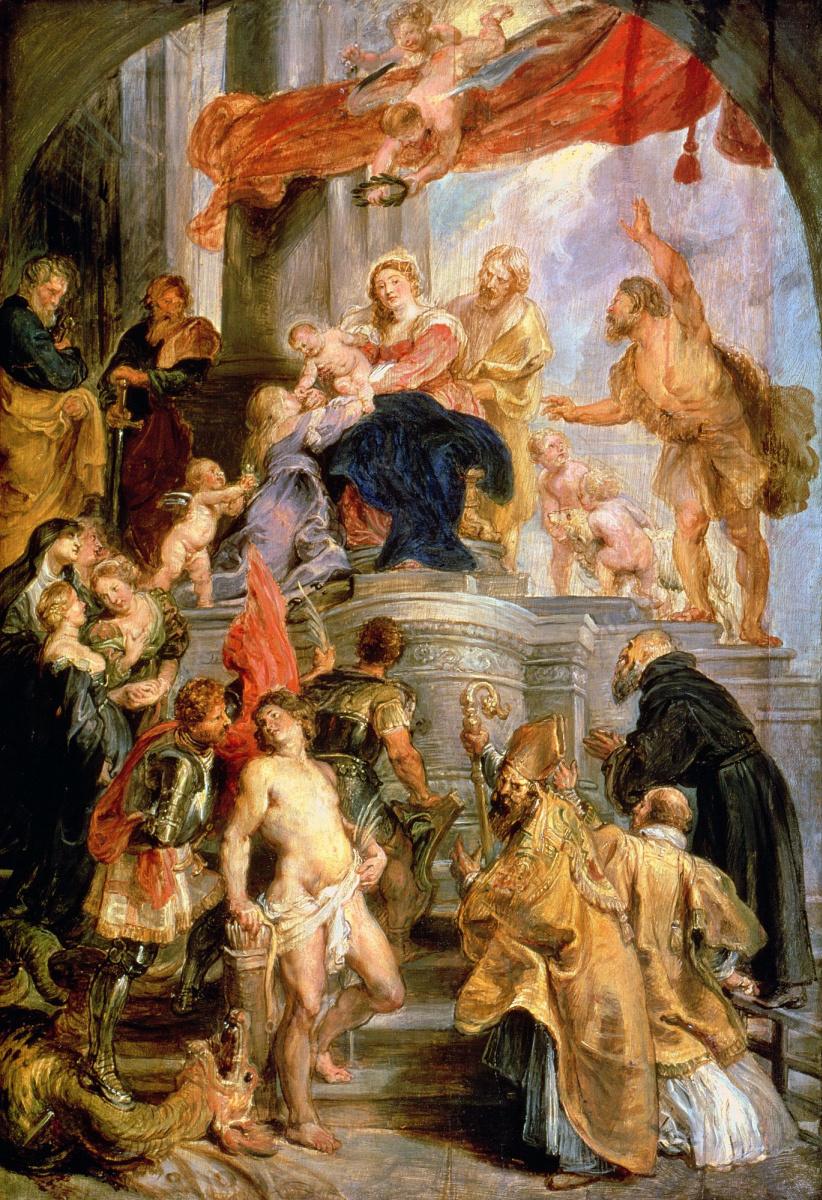 Питер Пауль Рубенс. Мадонна с младенцем и святыми