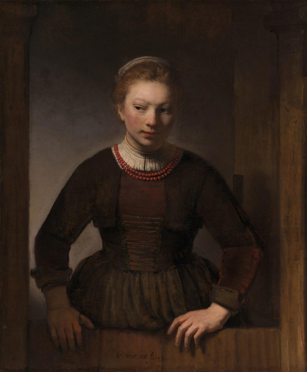 Рембрандт Харменс ван Рейн. Девушка у открытой двери