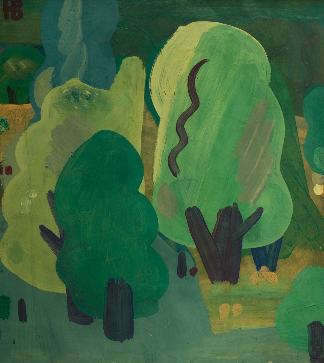 Rihard Rudolfovich Vasmi. Trees in the city