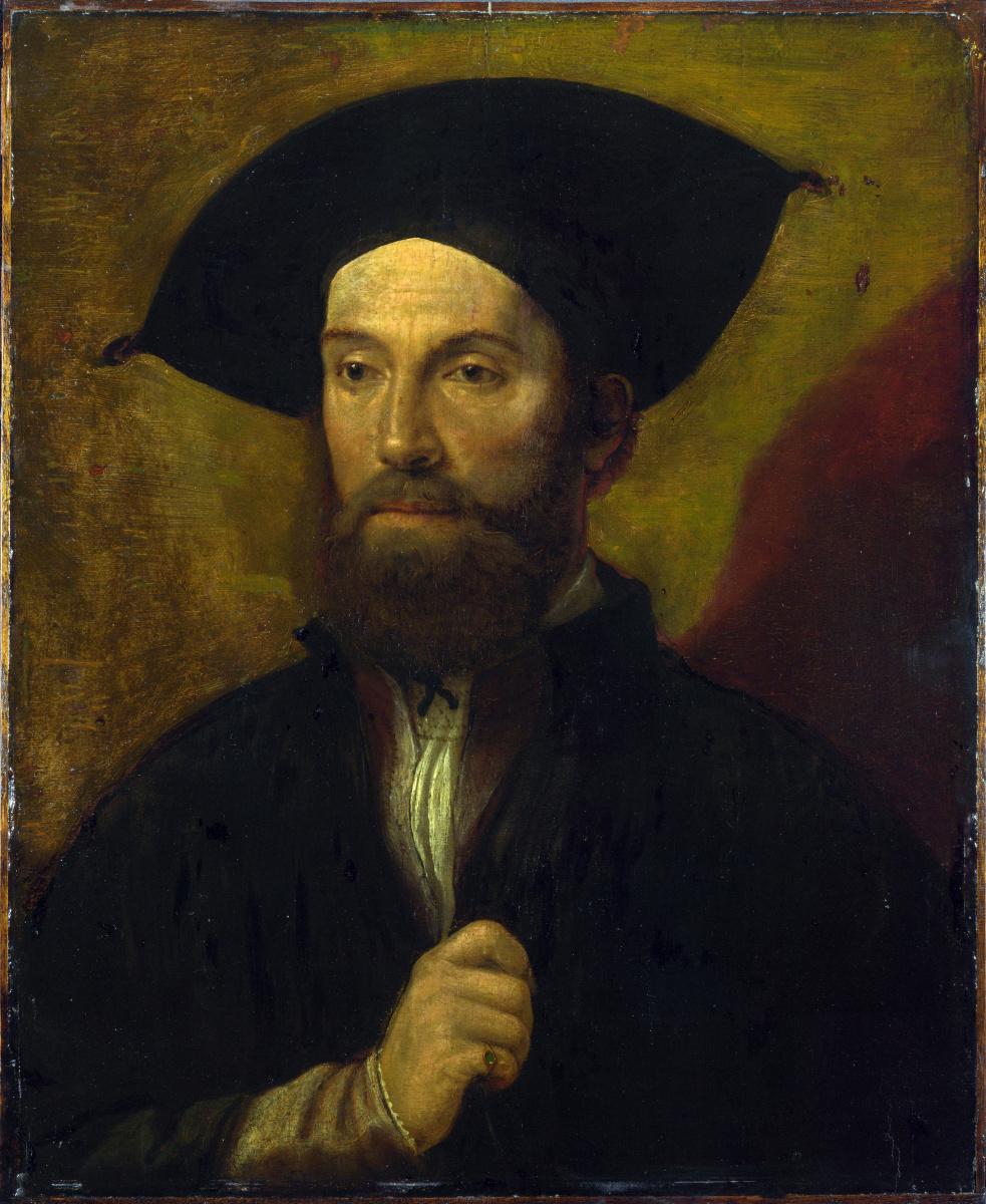Северной Итальянский. Портрет мужчины в черной широкополой шляпе