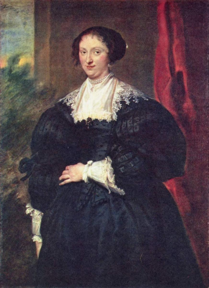 Антонис ван Дейк. Портрет дамы в черном