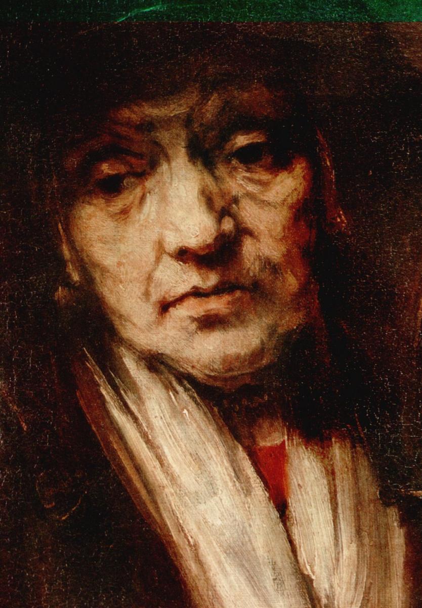Рембрандт Ван Рейн. Портрет старушки, фрагмент