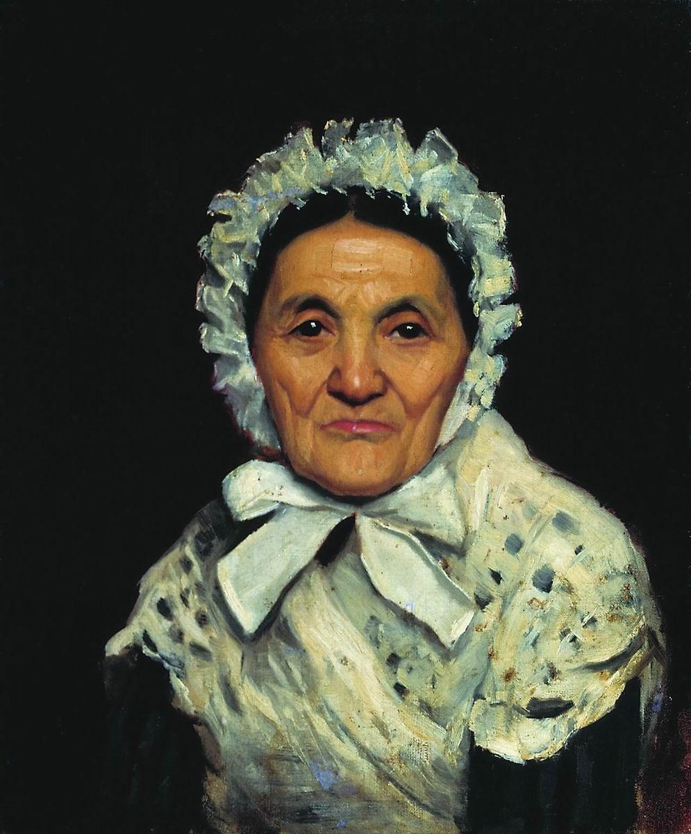 Мария Константиновна Башкирцева. Portrait of an Old Woman (Madame By)