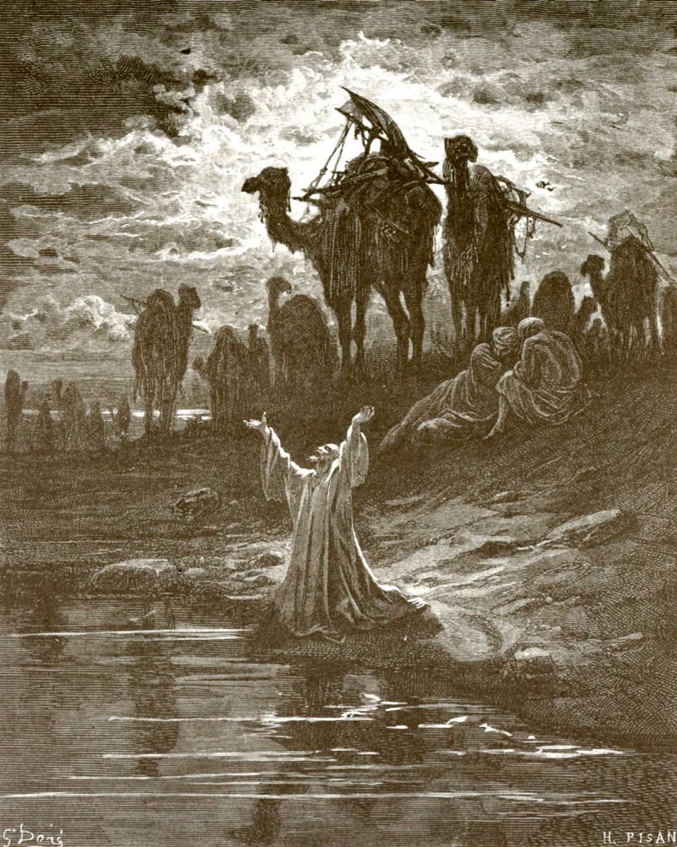 Поль Гюстав Доре. Иллюстрации к Библии: Иаков возвращается на родину