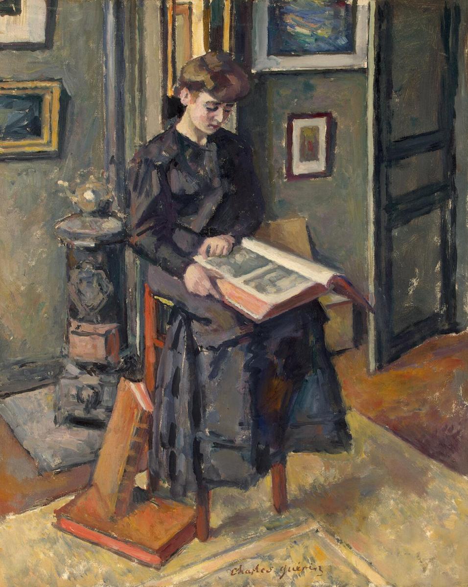Шарль Герен. Девушка с книгой