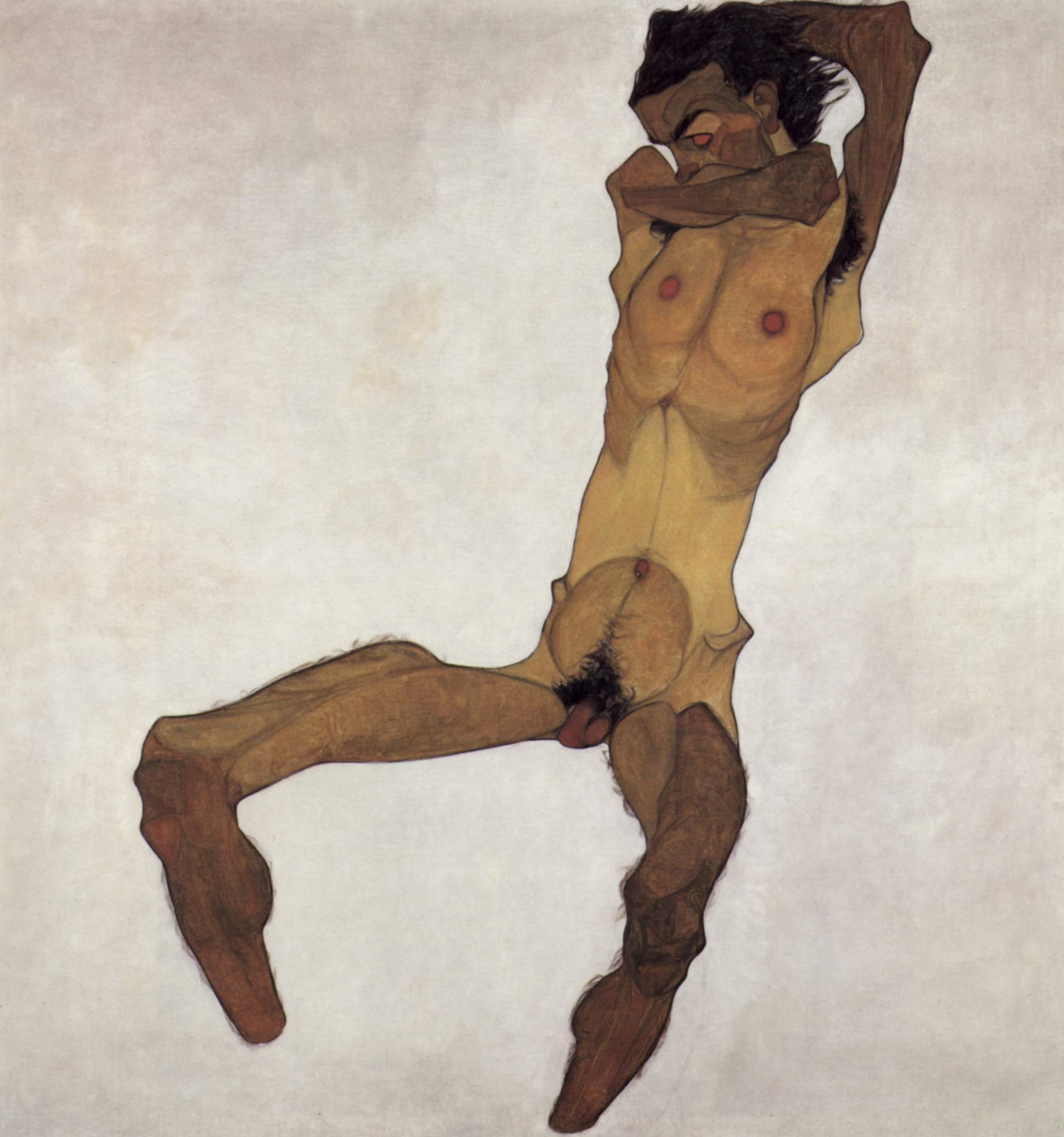 Egon Schiele. Sitting Nude