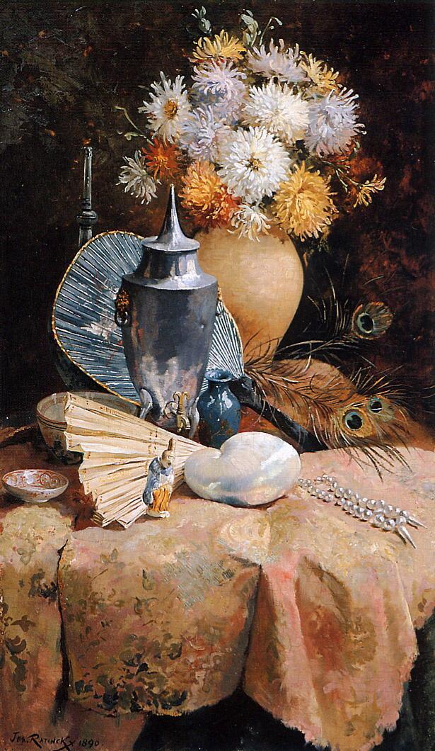 Joseph Leopold Ратинкикс. Still life with flowers