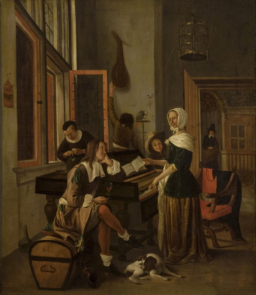 Jan Steen. The woman behind clavichord