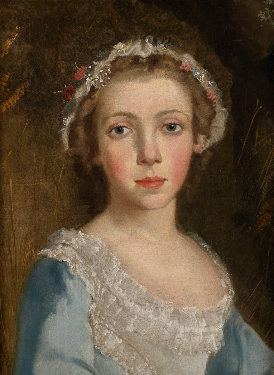 Томас Гейнсборо. Портрет девушки (фрагмент)