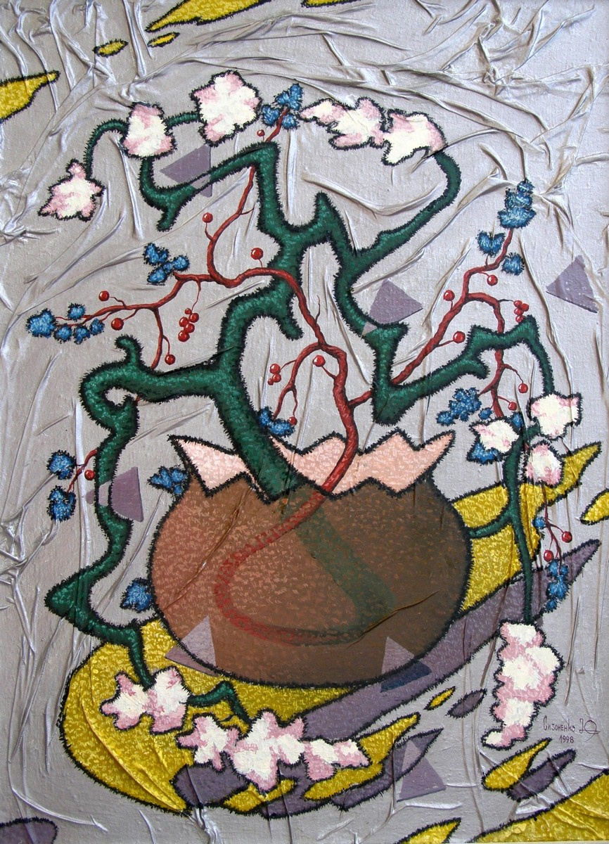 Yuri Vladimirovich Sizonenko. Still life with flowers.