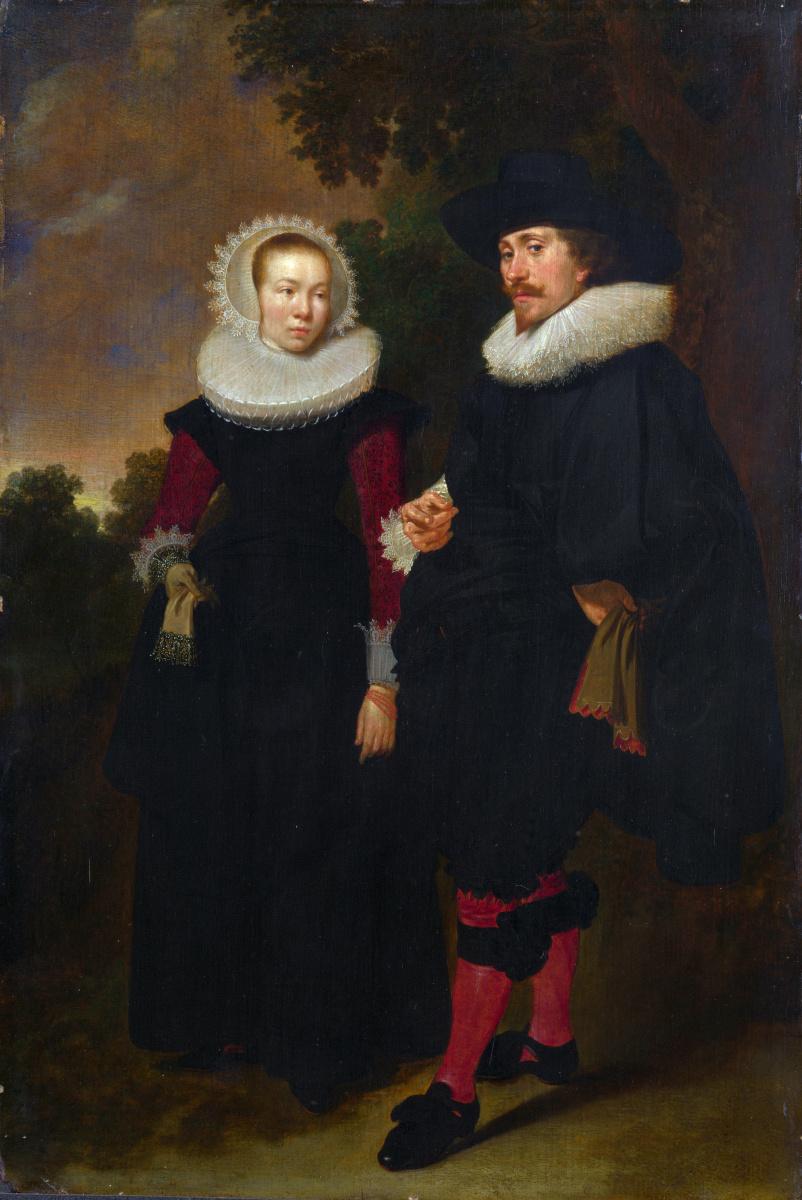 Голландский. Портрет мужчина и женщина