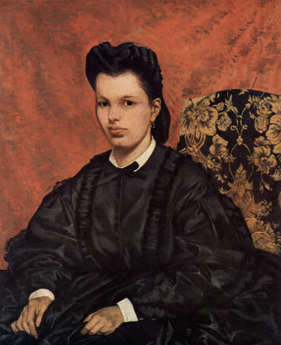 Giovanni Fattori. A portrait of the first wife of the artist