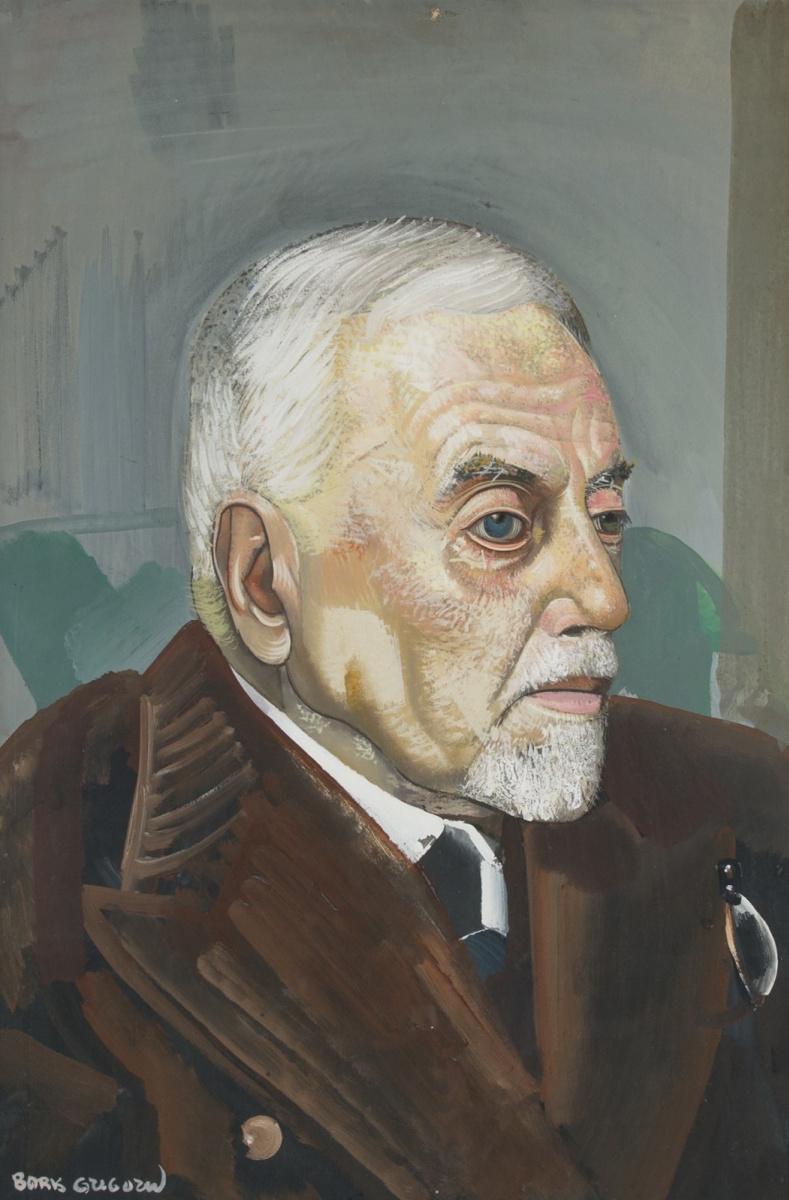 Борис Дмитриевич Григорьев. Портрет мужчины