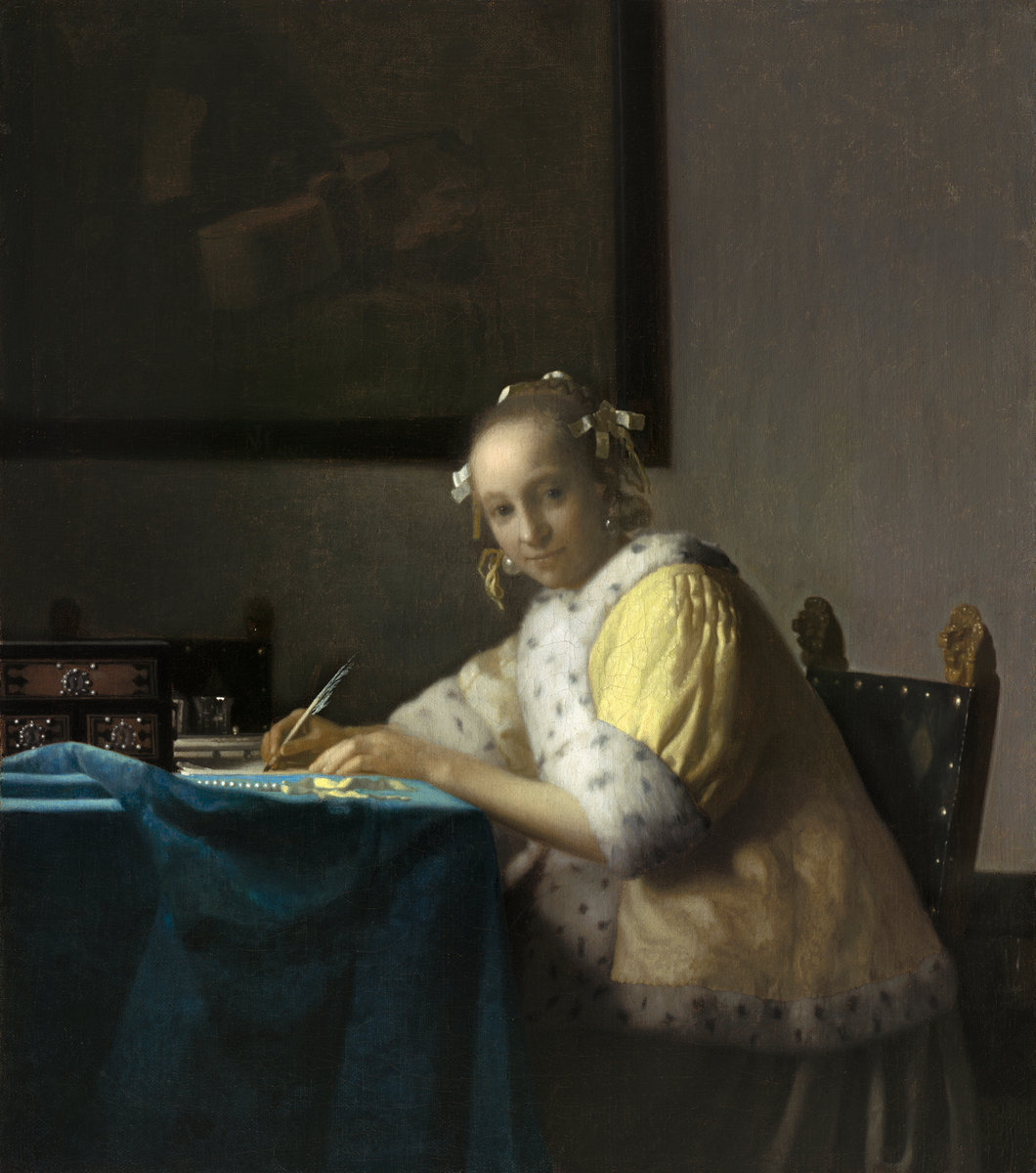 Jan Vermeer. Lady writing a letter