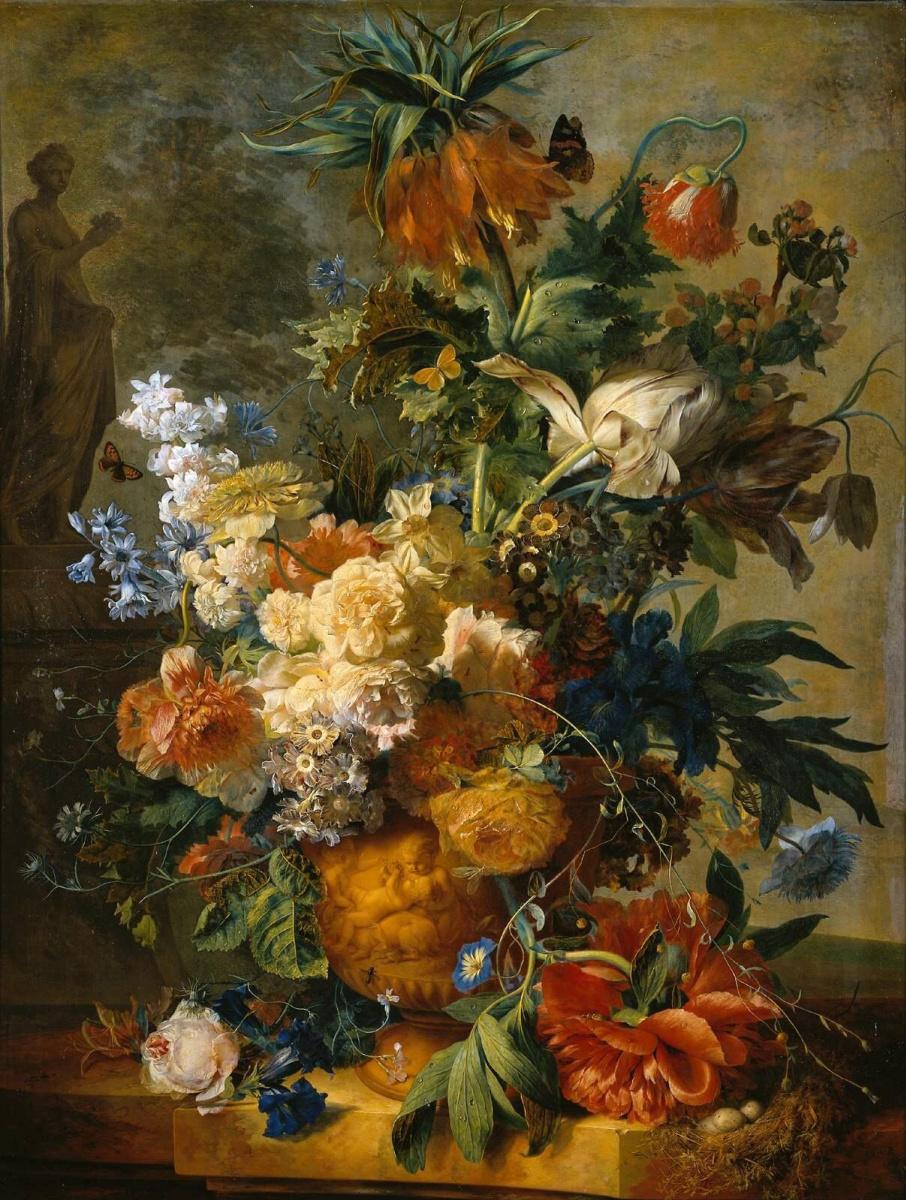 Ян ван Хейсум. Натюрморт с цветами