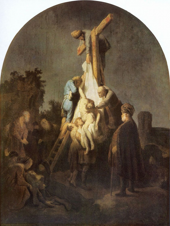 Рембрандт Ван Рейн. Снятие с креста