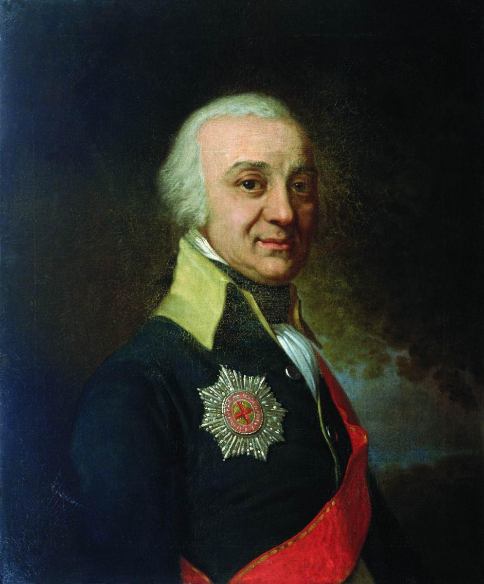 Vladimir Borovikovsky. Portrait of Privy Councilor Pavel Stepanovich Runich