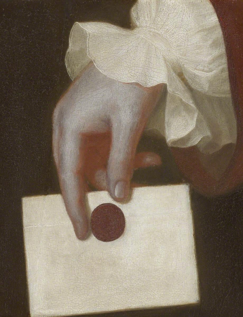 Джордж Ромни. Рука, держащая письмо