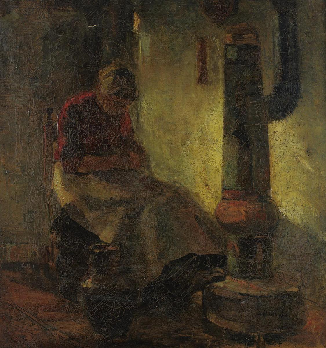 Herman Justus Kreider. At the stove